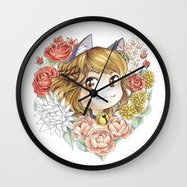 Hearty kitty Wall Clock