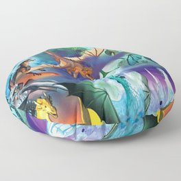 Wings-Of-Fire all dragon Floor Pillow
