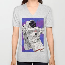 Hypebeast Spaceman Floating In Space | High Quality Artwork Unisex V-Neck