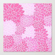 Pink Dahlias / Pink Floral / Pink Flowers Canvas Print