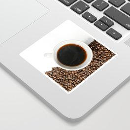 Coffee Mug and Beans Sticker