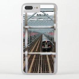 J Train - Williamsburg Bridge Clear iPhone Case