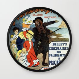 1896 Normandy Brittany Jersey travel ad Wall Clock