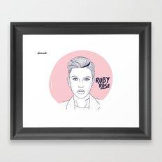 Ruby Rose Framed Art Print