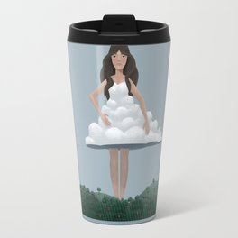 Cloud and woman Travel Mug