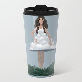 Cloud and woman Travel Mug