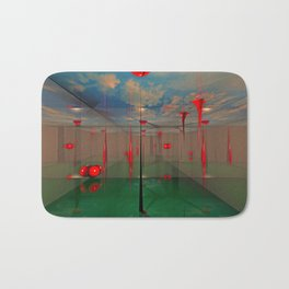 3d Digital Art Space Bath Mat