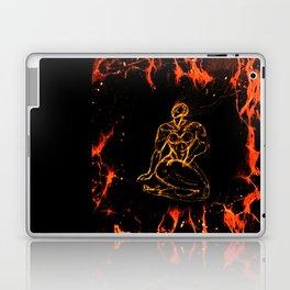 Breathing in Red Fire Laptop & iPad Skin