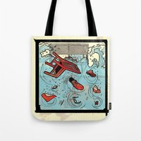 talking heads Tote Bags featuring Talking Heads Limited Edition Music Poster Print by Nick Howland