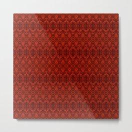 Red Wallpaper Pattern Metal Print