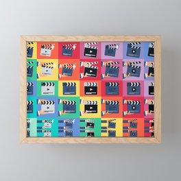 Filmmaker Clapper Slate Framed Mini Art Print