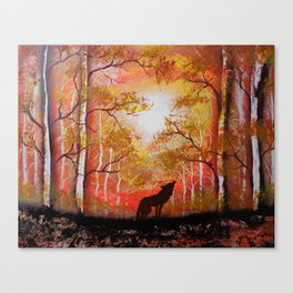 Howling Into The Woods Canvas Print