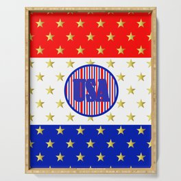 USA Stars And Stripes - United States Serving Tray
