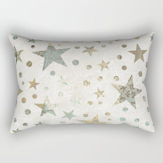 Patchwork Stars Collage Pattern Rectangular Pillow