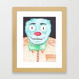 Blue Muppet Framed Art Print