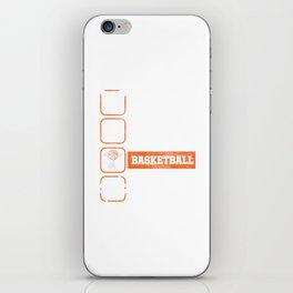 Eat Sleep Basketball Repeat Basket Ball Ring Rebound Team Action Sports Game Gift iPhone Skin