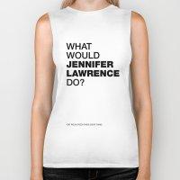 jennifer lawrence Biker Tanks featuring What would Jennifer Lawrence do? by Celebgate
