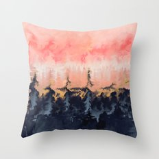 Abstract Wilderness Throw Pillow