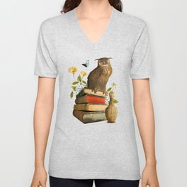 Wise Owl Unisex V-Neck