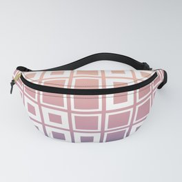 Mosaic Cubes on pastel color Fanny Pack