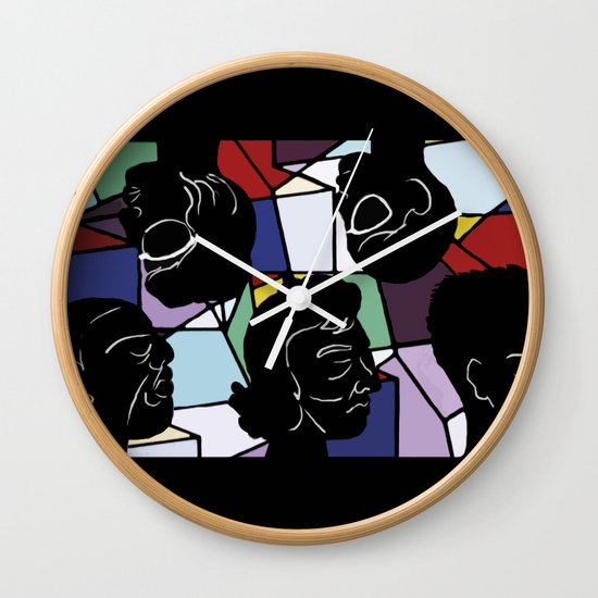 """In Our Heads"" by Virginia McCarthy Wall Clock"