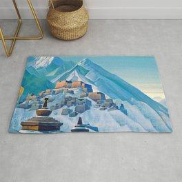 12,000pixel-500dpi - Nicholas Roerich - Tibet Himalayas - Digital Remastered Edition Rug