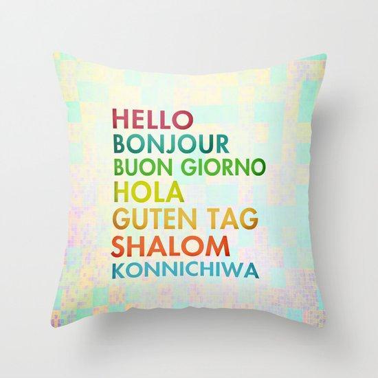 Multi Cultural Throw Pillow