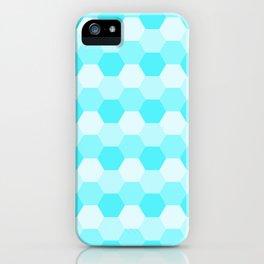 Aqua Honeycomb iPhone Case