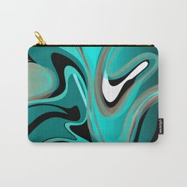 Liquify 2 - Brown, Turquoise, Teal, Black, White Carry-All Pouch