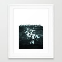 diver Framed Art Prints featuring Diver by ghoste