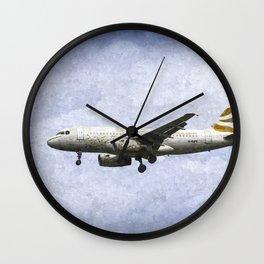 British Airways A319 Feather Design Art Wall Clock