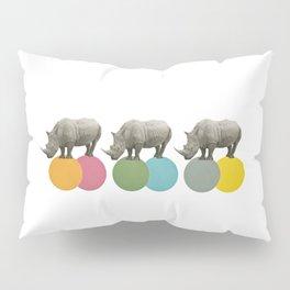 Rambling Rhinos Pillow Sham