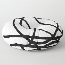 Community - Black and white abstract Floor Pillow