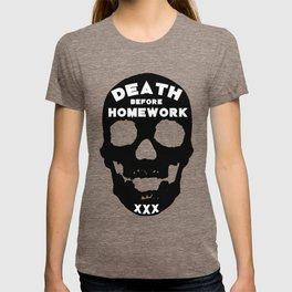 Death Before Homework T-shirt