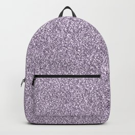 Abstract lavender lilac white faux glitter Backpack