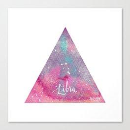 Libra - Astrology Mixed Media Canvas Print