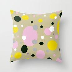 Polka Dots - Colorful - Retro - Fun Throw Pillow
