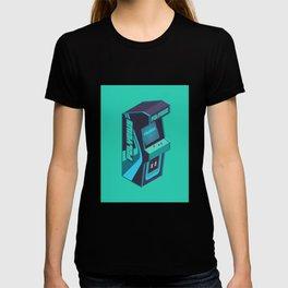 Polybius Arcade Game Machine Cabinet - Isometric Green T-shirt