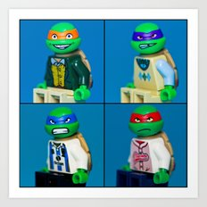 Dorky Teenage Yearbook Turtles Art Print