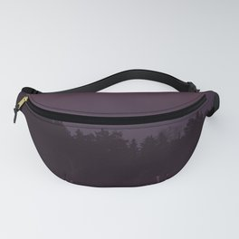 Full Moon - Winter Night With Reindeer At Edge Of Forest #decor #buyart #society6 Fanny Pack