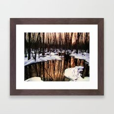 Emerging Pools II Framed Art Print