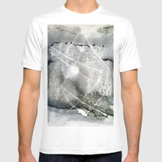 sun in forest - monoprint MEDIUM Mens Fitted Tee White