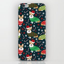Corgi christmas sweater ugly sweater party with welsh corgis dog lovers dream christmas iPhone Skin