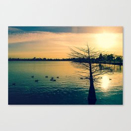 Going Home (Winter Lake at Dusk) Canvas Print