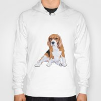 beagle Hoodies featuring Beagle by hadkhanong