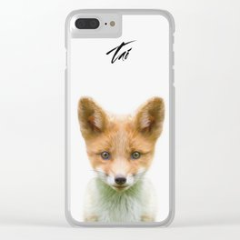 Baby Fox Clear iPhone Case