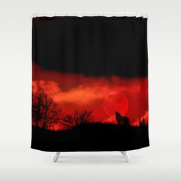 Cry wolf Shower Curtain