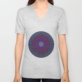 Blue Mandala Hippie Design Unisex V-Neck