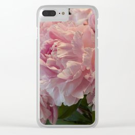 Pink Peony Passion Clear iPhone Case