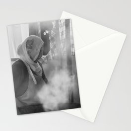 Turkish woman cooking traditional food Stationery Cards